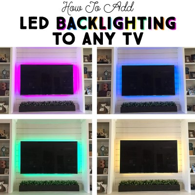 How to Add LED Backlighting to Any TV in Five Minutes! | Where The Smiles Have Been #TV #LED #TVbacklighting #home #homedecor #homeimprovement