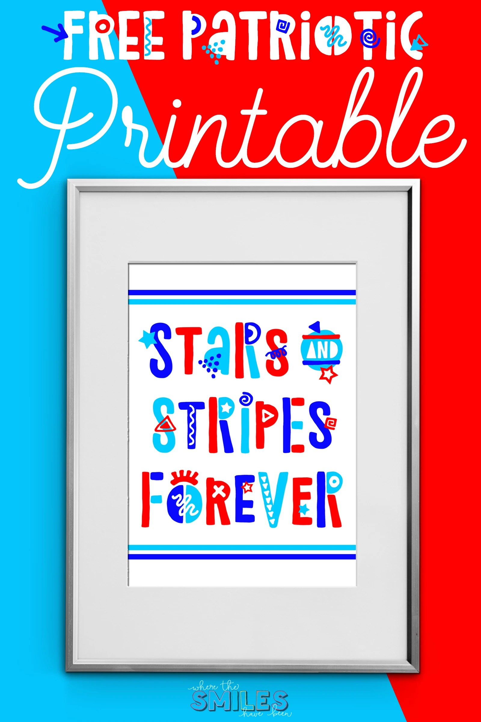 photo relating to Free Printable Stars called Funky Fourth of July Absolutely free Printable: Famous people Stripes Permanently!