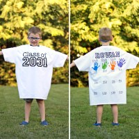 Yearly Back-to-School Shirt with Handprints for Every Grade!