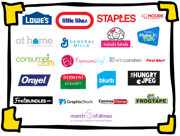Work with Where The Smiles Have Been like these great brands!