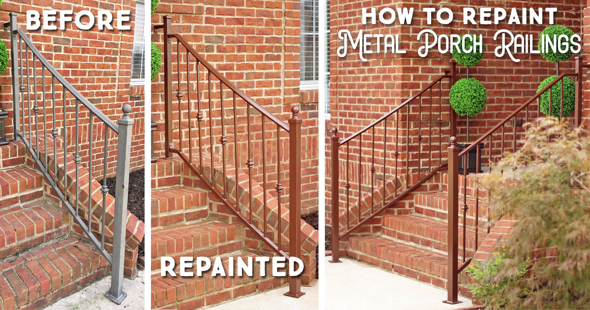 How To Repaint Metal Porch Railings Amp Add Instant Curb Appeal