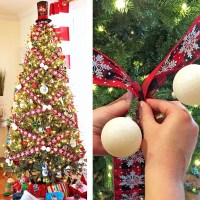 How to Crisscross Ribbon on a Christmas Tree for a Unique Look!