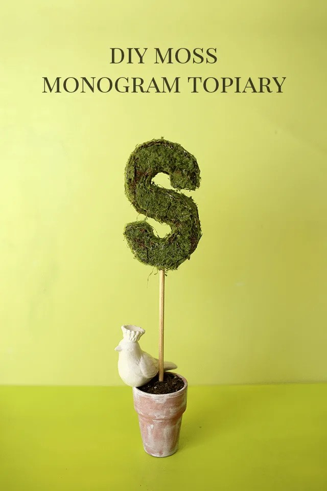 3D Monogram Moss Topiary
