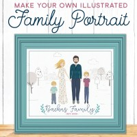 Make Your Own Illustrated Family Portrait - No Drawing Skills Required!