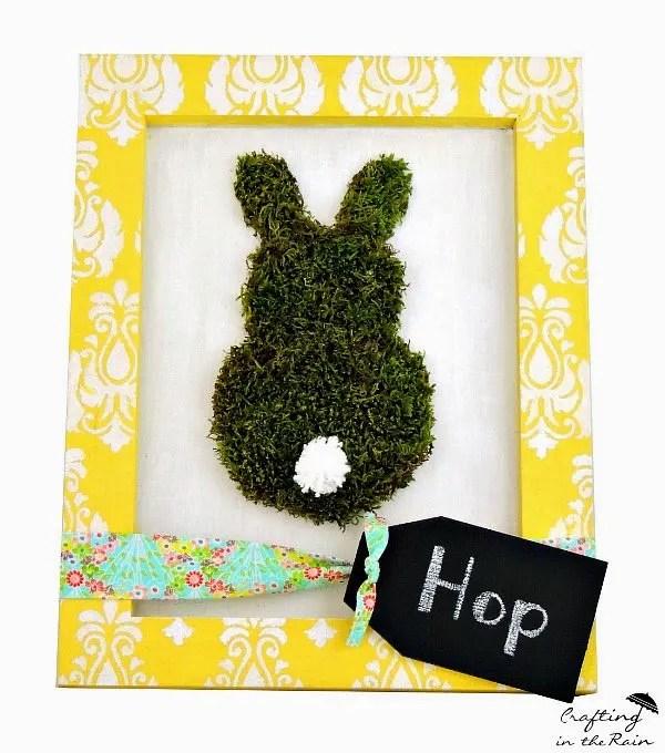 Framed Moss Bunny Art