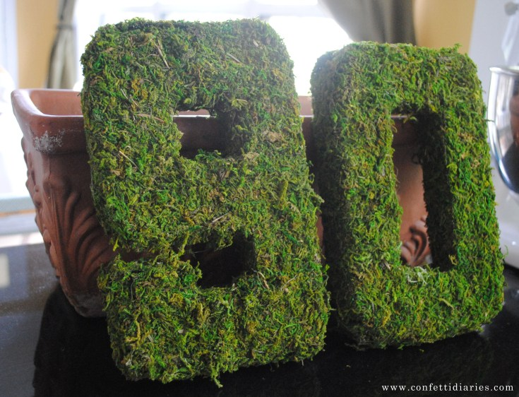 Moss-Covered 3D Numbers