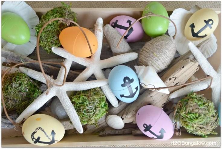 Moss Covered Plastic Easter Eggs