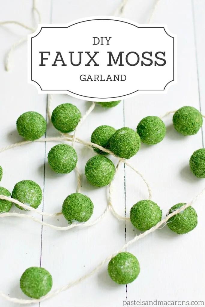 Faux Moss Ball Garland