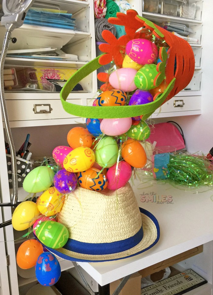 Diy Easter Hat A Gravity Defying Basket O Eggs