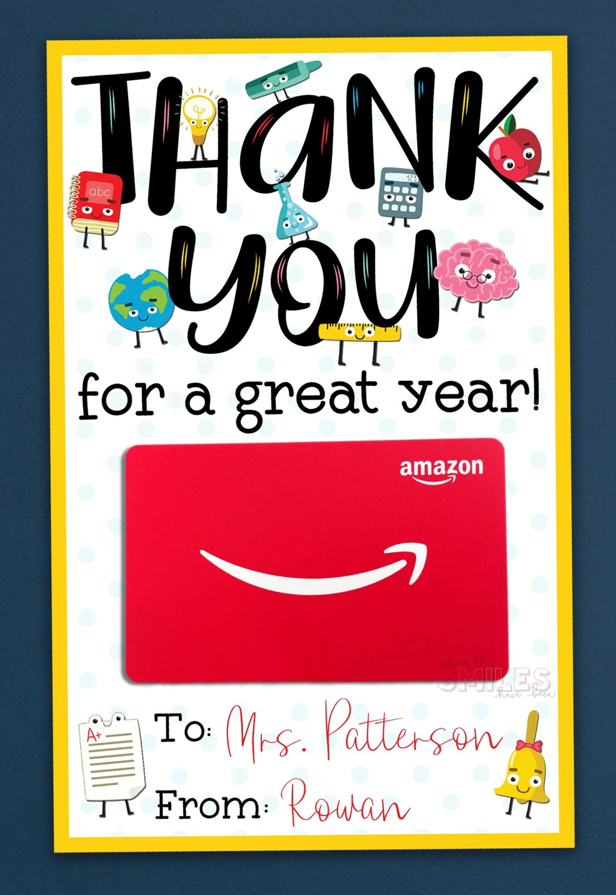 picture about Teacher Thank You Printable titled No cost Instructor Appreciation Thank By yourself Printable - 2 Designs!