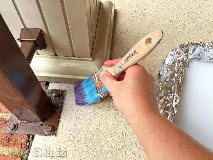 How to Repaint a Porch with Rollable Stone Coating | Where The Smiles Have Been #DIY #homeimprovement #porch #backporch #repaintaporch #howto #video #videotutorial #RollerRock #howtorepaintaporch
