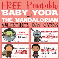FREE Baby Yoda & The Mandalorian Valentine's Day Cards {Printables}
