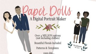Paper Dolls Digital Portrait Maker