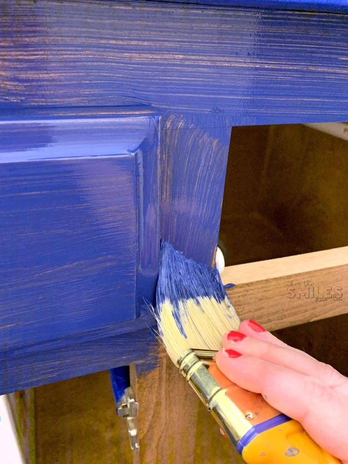 Painting cabinets blue