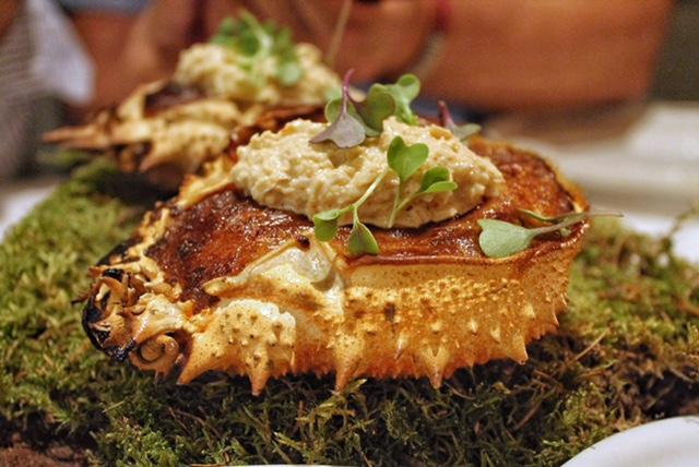 Fuego Restaurante Carta. Tortilla de patatas con Txangurro