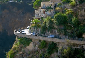 driving to positano