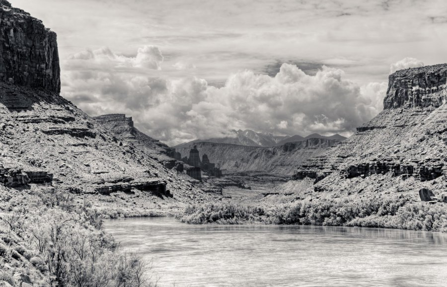 Ansel Adams River Mountain Utah William Woodward