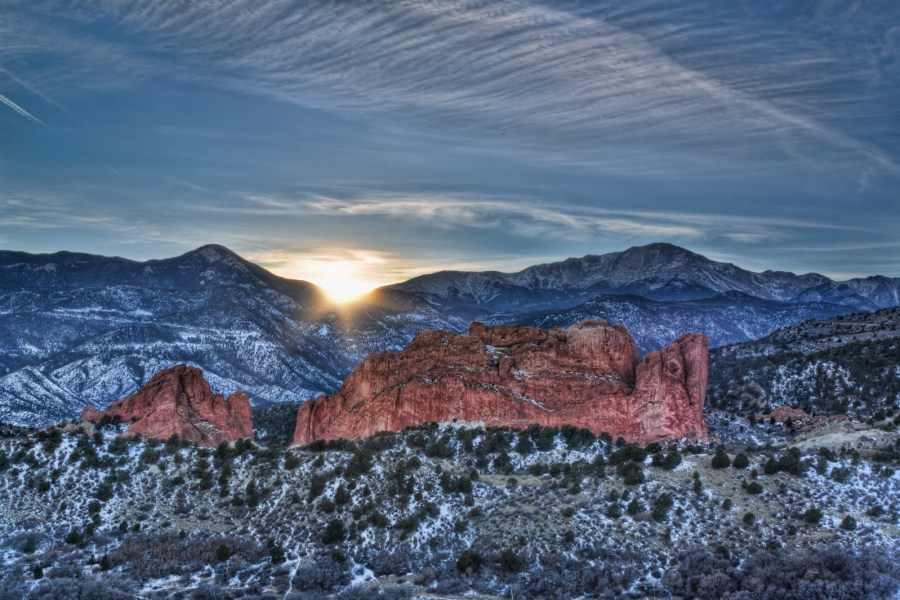 Sun at Garden of the Gods ~ Colorado // William Woodward