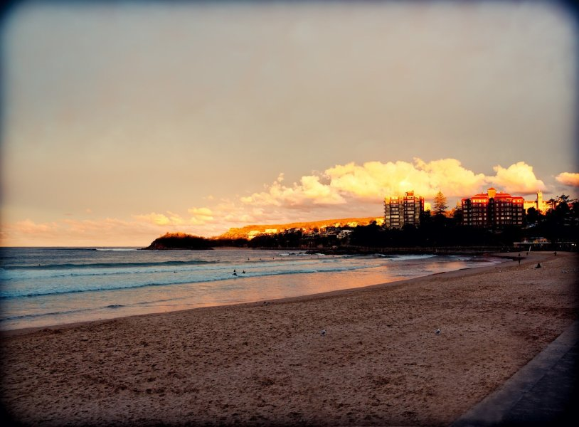 Lonely Sunset Manly Beach William Woodward