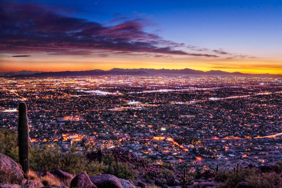 Purple Sunsets Arizona William Woodward