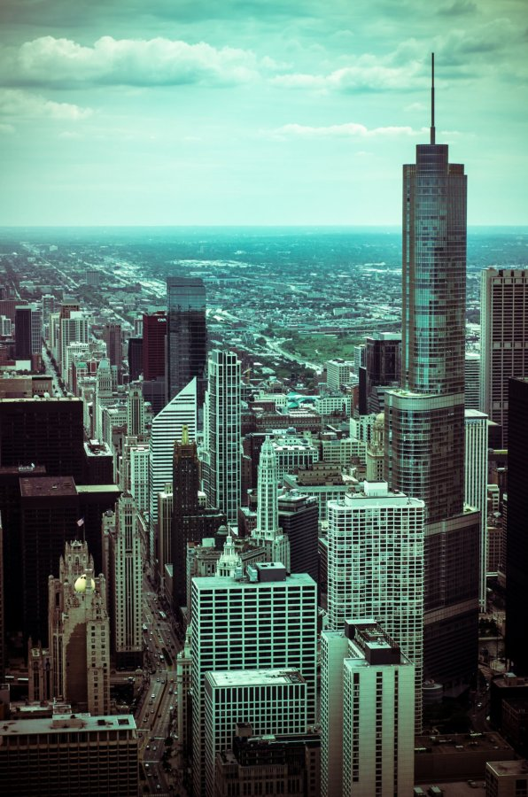 70s Landscape Chicago William Woodward