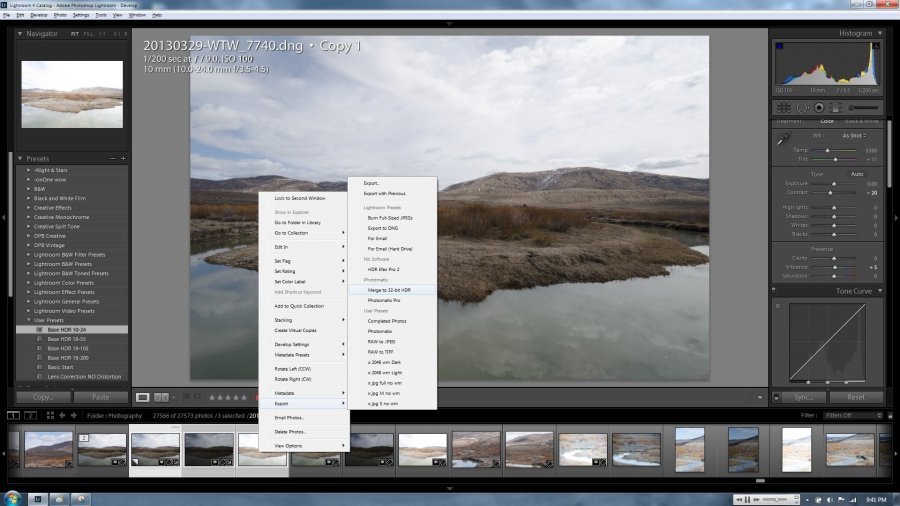 lightroom export hdr