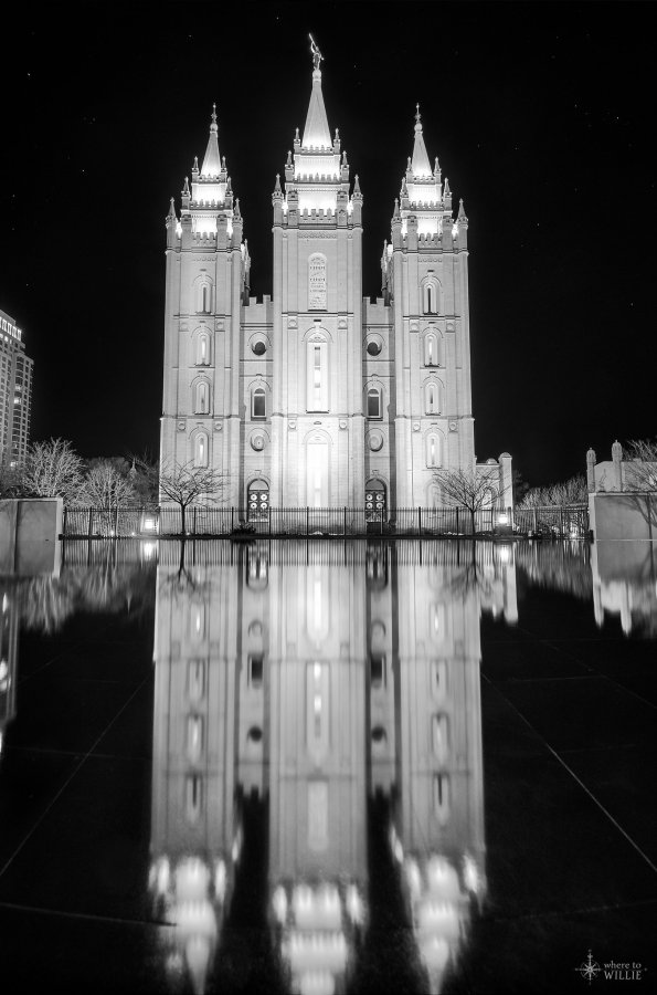 Three Pillars Temple Square William Woodward
