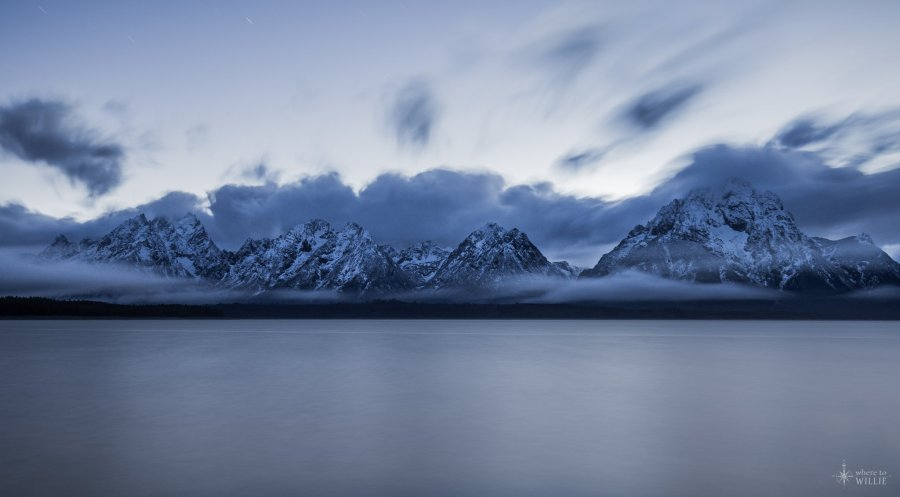 Clouds Grand Tetons William Woodward