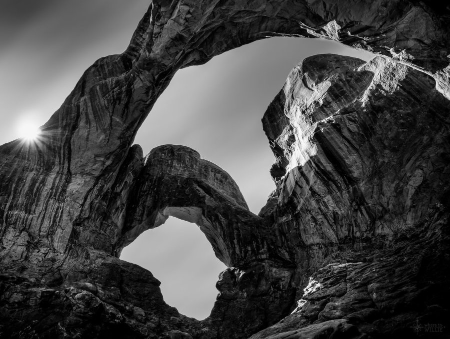 double arch arches national park utah william woodward
