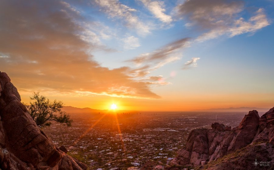 camelback mountain sunset phoenix arizona william woodward