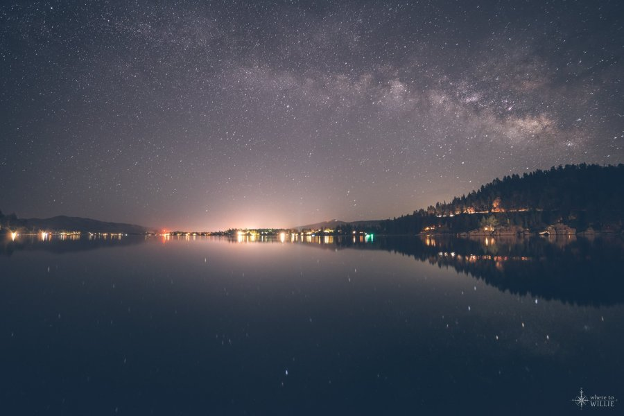 big bear lake milky way california william woodward