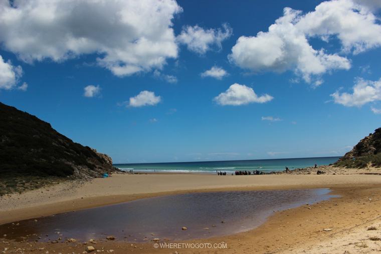 Praia do Zavial in Algarve Where Two Go To
