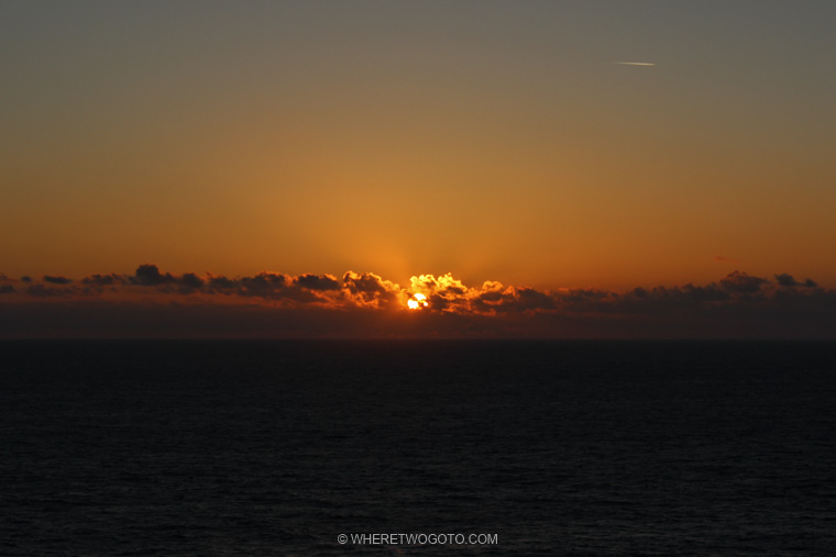 Sunset Cape St Vincent Algarve Portugal Where Two Go To