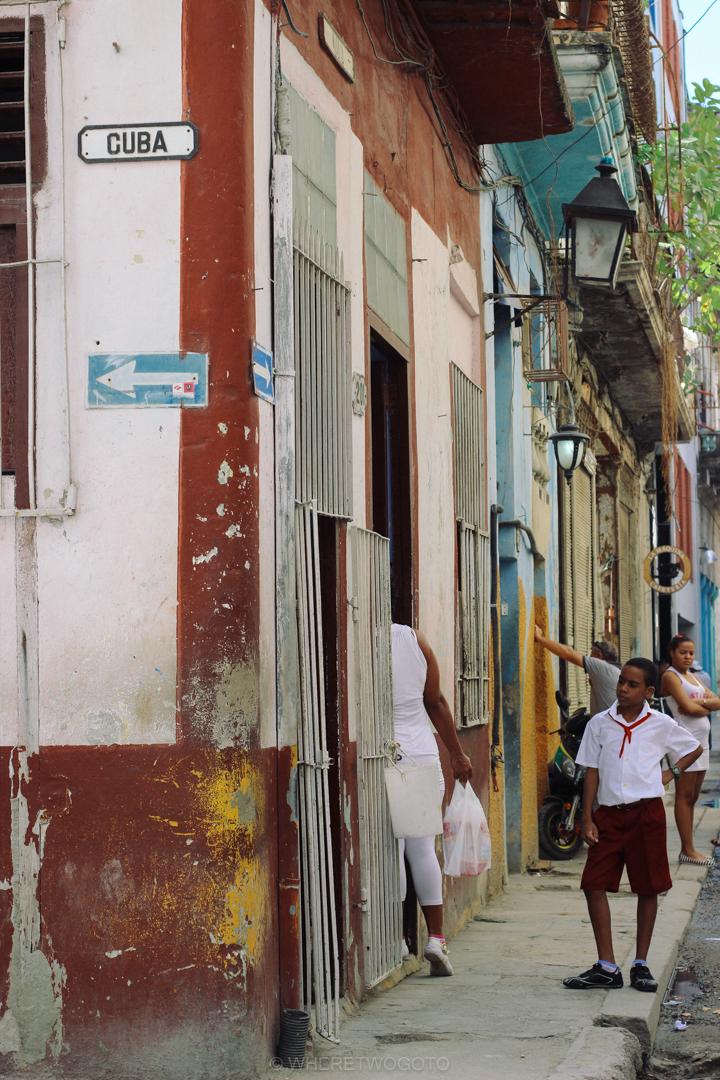 Havana streets Cuba Where Two Go To