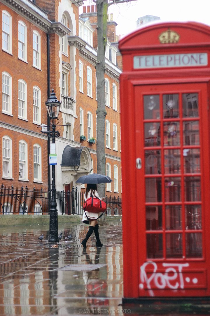 red phone box london