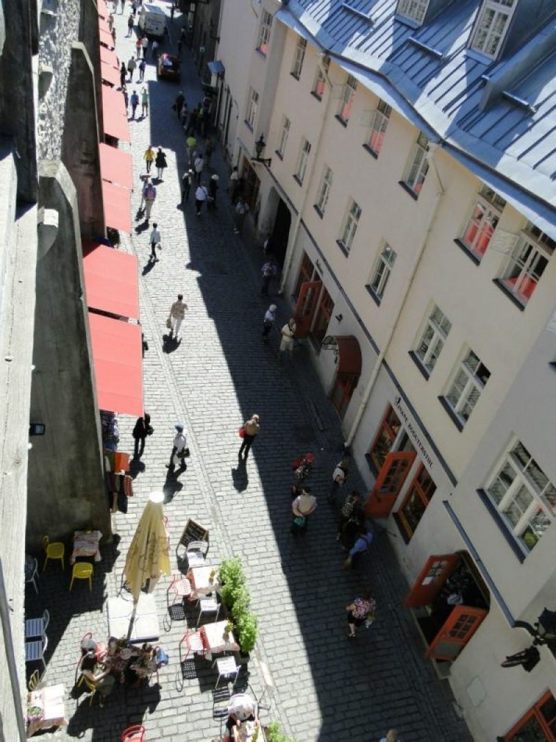 This was taken from the balcony in Old Town which overlooks the craft market.