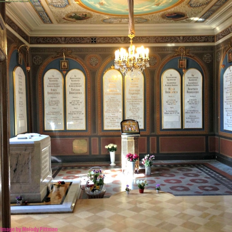 Burial site of Nicholas II at Peter and Paul Fortress.