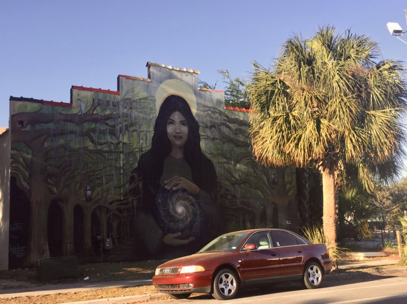 The 352 Walls is an art engagement in Gainesville with hand painted murals.