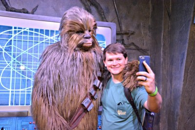 Chewbacca at Walt Disney World's Hollywood Studios.