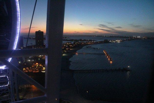 Ferris wheel pensacola beach view