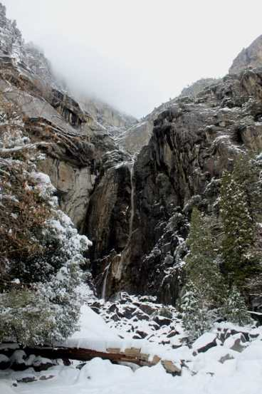 Yosemite fall in winter, dry