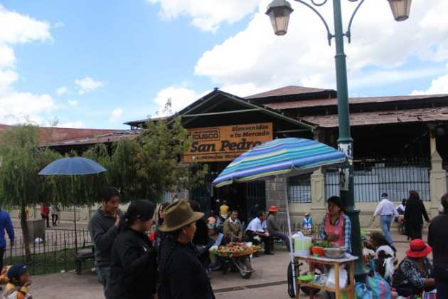 Outside of San Pedro Market, Cusco