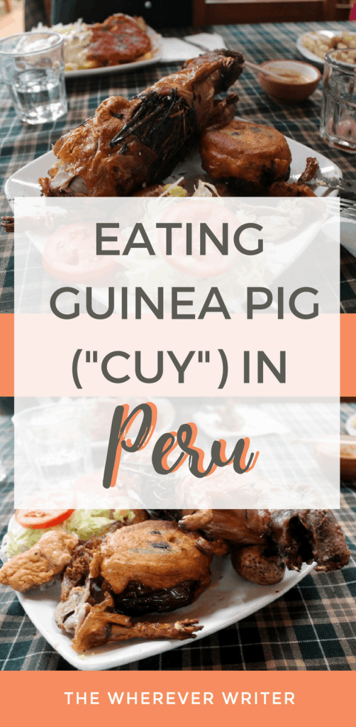 Eating Guinea Pig (Cuy) in Peru