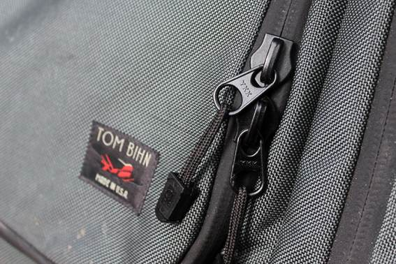 YKK zippers on the Tom Bihn Aeronaut