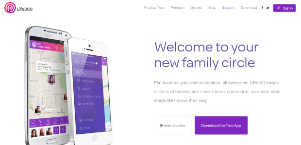 Life360 app website