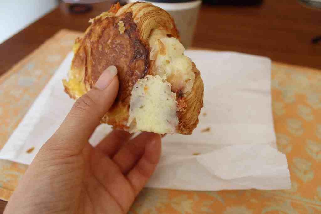 cheddar croissant bottom Fantail Bakery