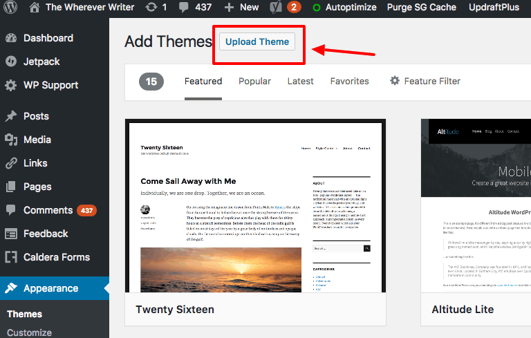 How to Start a WordPress Blog on SiteGround: How to install a WordPress theme part 2