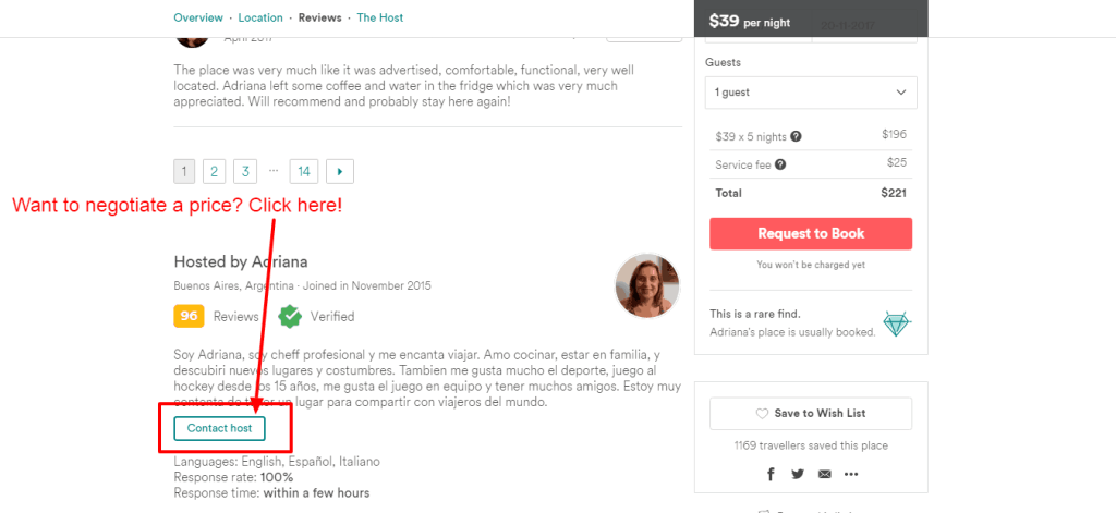 Airbnb tips - How to negotiate price on Airbnb 2