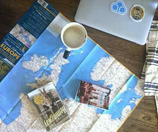unsolicited travel advice - map and laptop