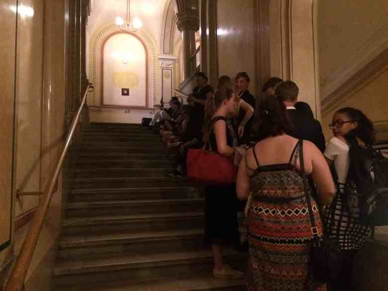 Standing Room Tickets Vienna Opera House - Waiting to get inside Gallery